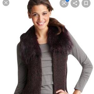 XSP deep purple loft faux fur vest